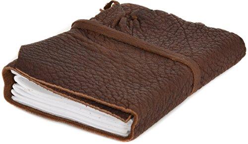 Gusti Leder studio ''Lola'' libro di pelle agenda diario DIN A6 per foto appunti Università Ufficio marrone 2P6-24-2