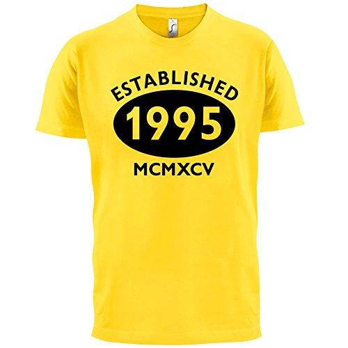 Gegründet 1995 Römische Ziffern - 22 Geburtstag - Herren T-Shirt - 13 Farben Gelb