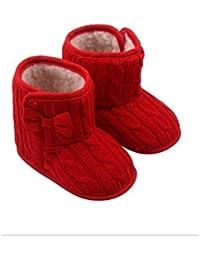Zapatos de Bebé Niña ,Suela Blanda Antideslizante Botas de Nieve ,Prewalker Zapatos