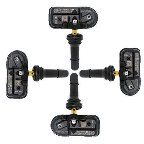Meisijia 4PCS 68186572AA Kraftfahrzeug Sensor Durable Autoteile Autoreifen-Drucksensoren f¨¹r Jeep Ram