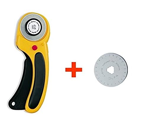 Olfa Deluxe Rotary Cutter 45 mm with Acotto Replacement Blade