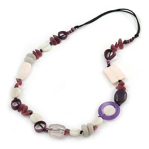 resine-blanc-violet-perle-geometrique-os-avec-cordon-en-coton-noir-l-72-cm-reglable