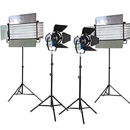 Hwamart Kit 2 x 1000W Fresnel Tungsten Lichter 2xFluorescent 6 Bank mit gespiegelten Finish Rohr Fluorescent Flickr frei osram Rohr osram Ballast Licht zu Hause Filmstudio