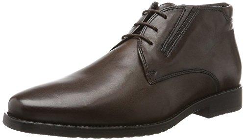 Unbekannt Schnürschuh - Zapatos de cordones de cuero para hombre gris Gris - Gris 42 rEVqCFm1lG