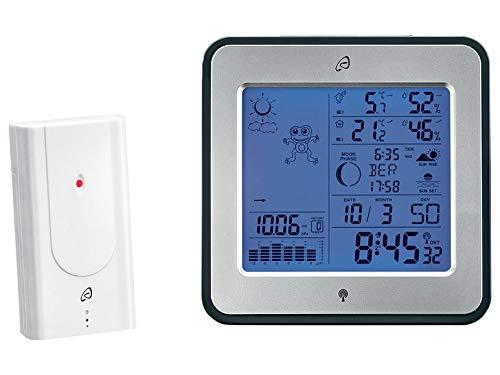 Auriol Funk Wetterstation mit Lüftungsempfehlung Innen/Außen Weckfunktion inkl. Frostwarnung