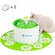 isYoung Fuente de Agua Gatos y Perros Dispensador de Agua Automático para Mascotas Bebedero Automático 1.6