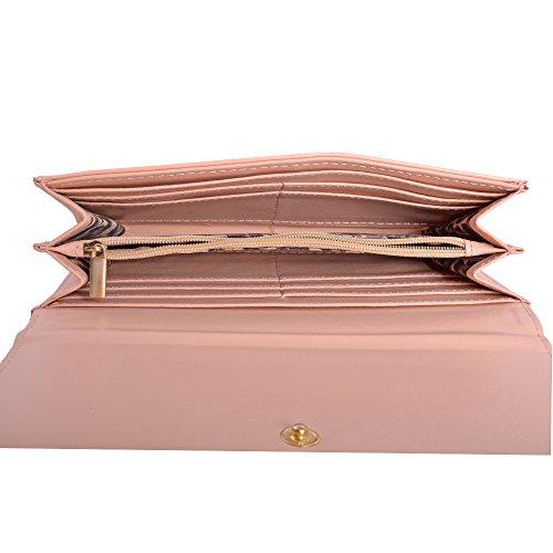 LeahWard® Damen Kunstleder Geldbörsen Brieftasche Münze Tasche Geldbörse Für Sie Kussverschluss Geldbörsen Schwarz Geldbörse