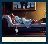 Bild mit Rahmen Jack Vettriano - The Letter - Holz blau, 76 x 68cm - Premiumqualität - People & Eros, American Scene, Figur, Frau, schick, Zigarette, Rauchen - MADE IN GERMANY - ART-GALERIE-SHOPde