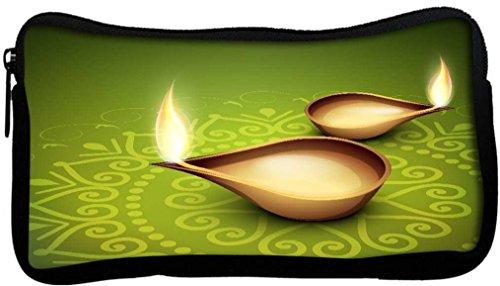 Snoogg Bella illuminante Diya sfondo Comunità, Hindu, in tela, con motivo
