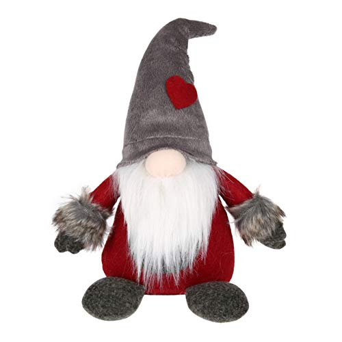 Smartcoco Handgefertigter schwedischer Weihnachtsmann Zwerg Plüsch Skandinavische TOMTE Nisse TonTTU Nordic Weihnachten Elf Zwerg Geburtstag Geschenk Urlaub Dekoration Home Tischdekoration Gray-2