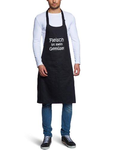 coole-fun-t-shirts-herren-grillschurze-fleisch-ist-mein-gemuse-grillen-bbq-grillsport-schwarz-10475