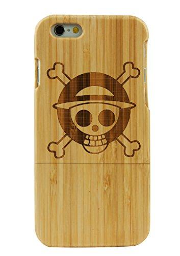 SunSmart Einzigartigen, handgefertigten Original Natural Wood Holzfest Bambus Case/Hülle/Tasche für iPhone 6 Plus 5.5'' (baum) ein Stück