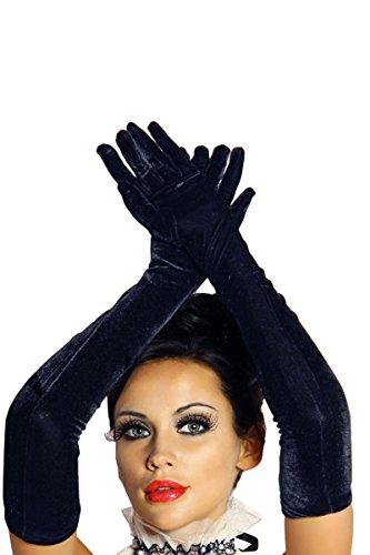 Lange Handschuhe aus hochwertigem Samt A12142-1, (Lange Handschuhe Samt)