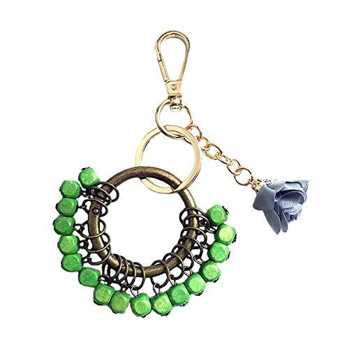 GANXIA Home Mode Schlüsselanhänger Kreative Akazie Herz Schlüsselanhänger Tasche Charme Handy Charme Tasche Dekoration Schlüsselanhänger Anhänger Geschenk für Frauen/Mädchen Grün - Akazie Grün