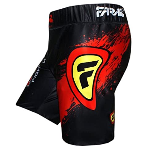 MMA vale tudo shorts grappling fight training match compression tight (LARGE)
