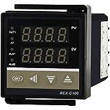 Huatuo® Contrôleur de thermostat intelligent REX-C100 Contrôleur de température numérique PID contrôleur de température