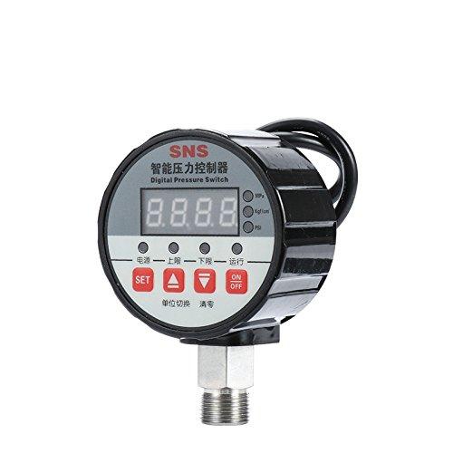 cgoldenwall Digital Druck Schalter Controller Druck Gauge Electronic Vakuum Intelligente Elektrische Kontakt Manometer, 0-30 mpa DC 24V, 1 -