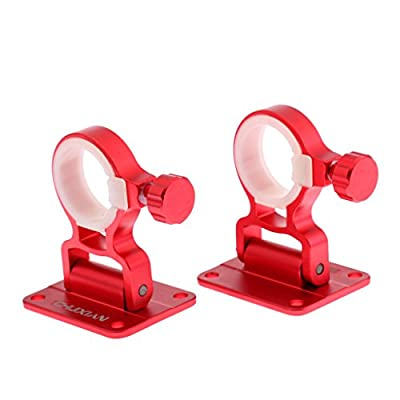 perfk 2pcs Universal Umbrella Holder Bracket Stand Adjustable Angle for Fishing Box by perfk