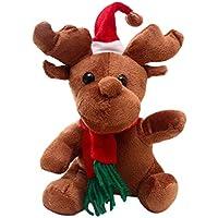 STOBOK Lindo Reno Relleno de Peluche muñeca de Juguete de Dibujos Animados Adorable Animal Juguete decoración