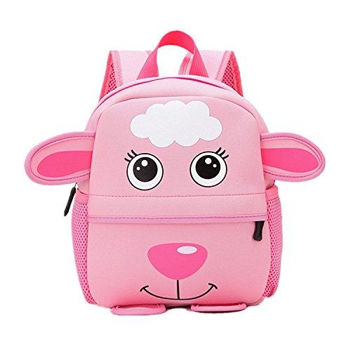 Ducomi® Zoolander - Simpatico Zaino Unisex in Neoprene per Bambini da 1 a 7 anni - Ergonomico, Leggero e 3D Design - Idea Regalo di Natale per Bambini e per i Più Piccoli - 25 x 24 x 9 cm (Sheep)
