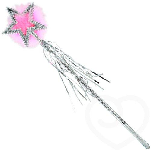 Zauberstab mit rosa Marabufedern Fee Prinzessin Zauberfee Kinder Mädchen Geburtstag Karneval Fasching Weihnachten