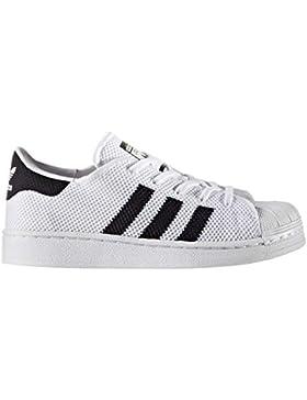 adidas Zapatillas de Gimnasia de Material Sintético Para Niño Blanco Bianco