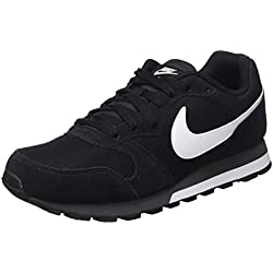 Nike Md Runner 2, Zapatillas de Running Hombre, Negro/Blanco/Gris (Black/White-Anthracite), 43