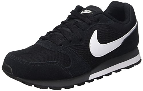 innovative design d1a13 86838 Nike Md Runner 2, Zapatillas de Running Hombre, Negro Blanco Gris (