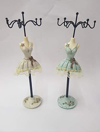 takestop® maniquí joyero de 6plazas cm. cj3413de Madera Vestido Ropa joyero de Collares Accesorios Pendientes Color AL Azar