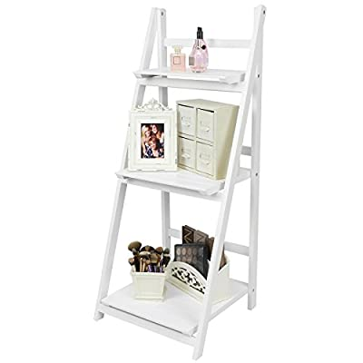 Hartleys 3 Tier Folding Ladder Shelf - White produced by Hartleys - quick delivery from UK.