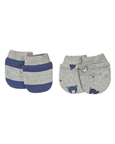The Essential One - Baby Jungen Blau Kratzhandschuhe für Neugeborene/Kratzfäustlinge/Kratzfäustel, Neugeborenenhandschuhe (2 Paar)