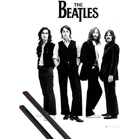 Poster + Sospensione : The Beatles Poster Stampa (91x61 cm) Banda E Coppia Di Barre Porta Poster Nere 1art1®