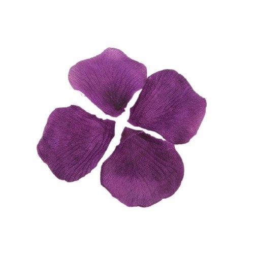 TOOGOO (R) 600 pz petali di rosa in seta viola scuro per feste matrimonio