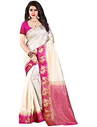Nirja Creation Silk Cotton Saree With Blouse Piece