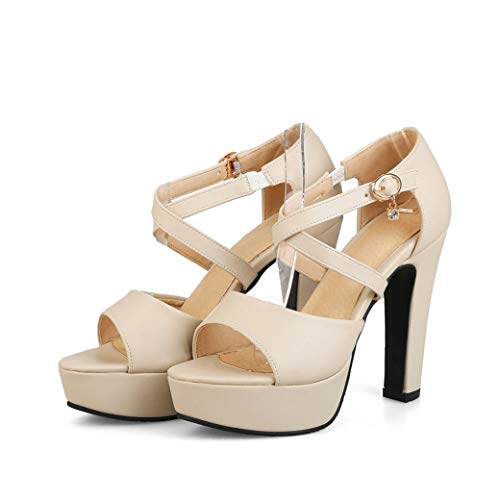 Frauen 15 cm Spike Heels Pumps Sommer Hohe Plattform Knöchel Kreuz Krawatte Peep-Toe Kleid Party Hochzeit Schuhe Femme Schnalle Sandalen