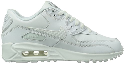 Nike Air Max 90 Gs 307793 Unisex-Kinder Low-Top Sneaker Weiß (Weiß)