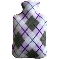 Preisvergleich für BJ-SHOP Wärmflasche,Wärmflasche mit Vliesbezug 2 Liter Große Luxus Soft Furry Warm halten für Kinder Frauen Männer