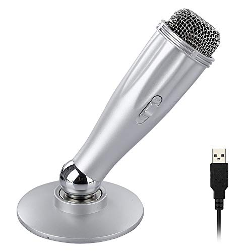XIAOKOA Kondensator PC USB Mikrofon,Plug & Play Tischmikrofon für Computer, Notebook Geeignet für Konferenz, Videoanruf, Aufnahme, Live-Chat (Live Chat)