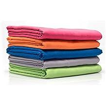diMio Mikrofaser Reisehandtuch schnelltrocknend - Handtuch mit Tasche (80x180cm, Pink)