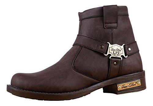 Toni Ellen Jackie 512 Adulte Homme Femme Chaussures Bottines Bottes Chaussures D'hiver - Taille 40-44 Marron