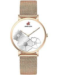 LYZwb Reloj De Pulsera Reloj De Cuarzo Impermeable De Acero Inoxidable Simple para Mujer
