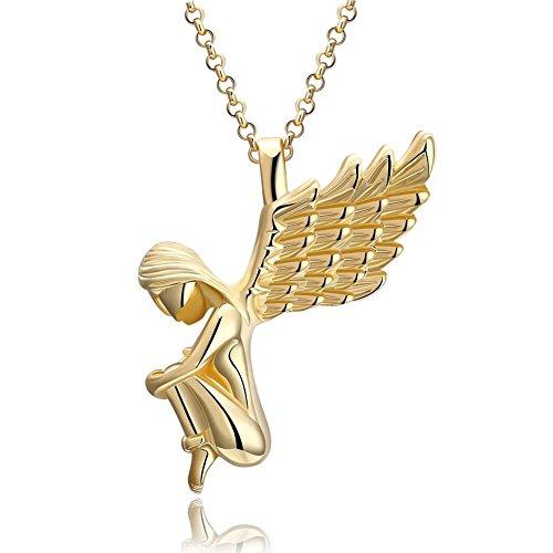 Anhänger Kette Damen Weihnachten Engel Gold Halskette für Kider Weihnachtsgeschenke ()