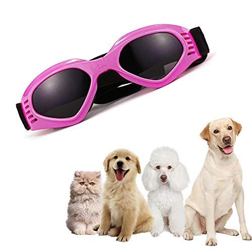 ZYZ Pet Schutzbrille Faltbare wasserdichte Winddichte Anti Fog Eye Stilvolle Einstellbare Pet Dog UV-Schutzbrille Sonnenbrille für Hund
