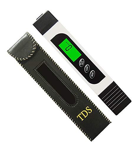 Digitaler Wasserqualitätstester 3 in 1 TDS EC-Messgerät mit Hintergrundbeleuchtung, Temperatur zwischen 0-9999 PPM, tragbarer Wassertester mit ATC für Trinkwasser und Trinkwasser-Qualitätskontrolle