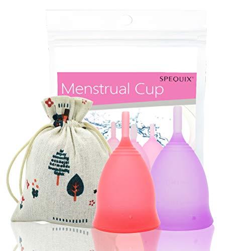 Spequix - Juego 2 tazas menstruales mujer talla S