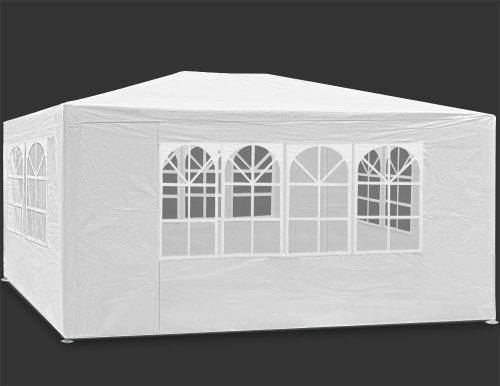 Tonnelle Maui - 3x4m - Blanche - Barnum revêtement imperméable - Tente de jardin