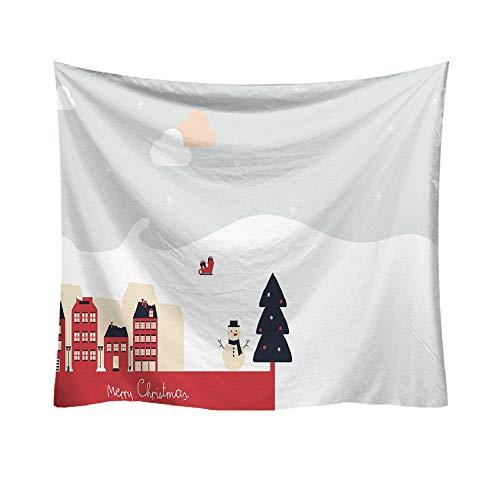 Higlles Frohe Weihnachten 95x73cm Tapisserie Weihnachtsmann Muster Wandbehang Weihnachten Wanddekoration Wandteppich