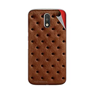 Miicreations Mobile Skin Sticker For Motorola Moto G4 Plus,Biscuit Design