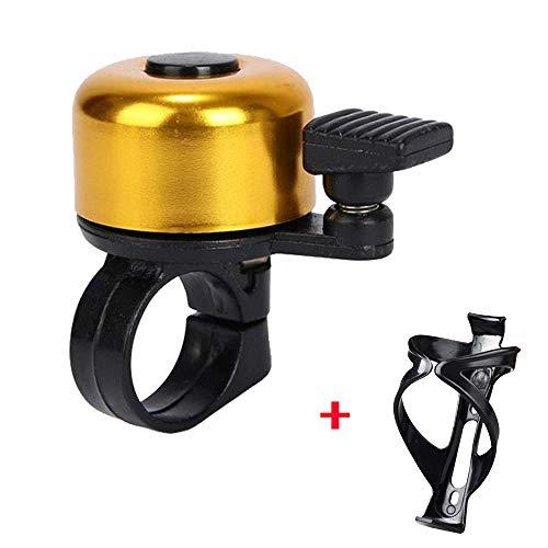 Fahrrad Glocke, Switchali Lenker Glocke Fahrradglocke Fahrradklingel Metall Fahrradlenker Radfahren Bell-Horn (Gold) -