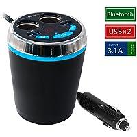 Transmisor FM bluetooth Mp3 plaer de Mesllin para coche, Doble USB Adaptador Encendedor Mechero de